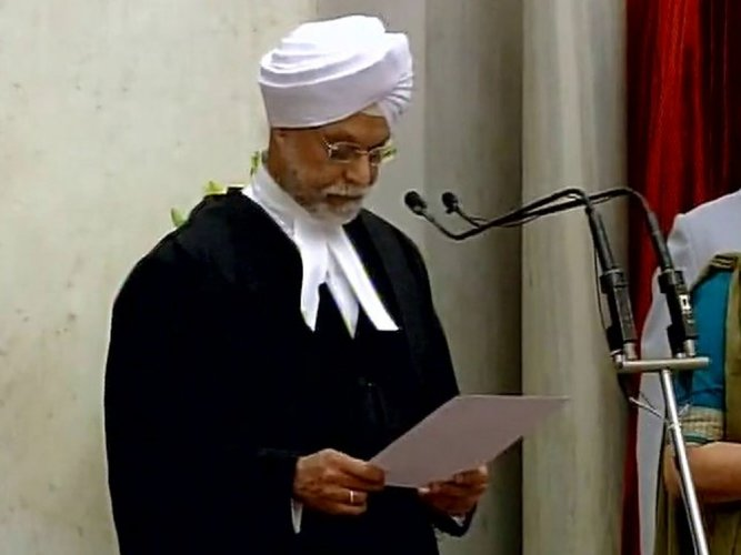 Khehar sworn in as 44th Chief Justice of India