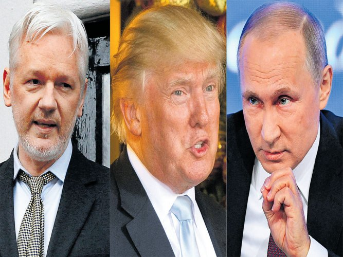 Hack unites unlikely pair: Trump and Assange