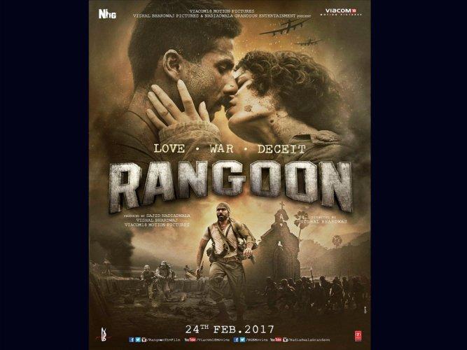 'Rangoon' posters reveal love-triangle
