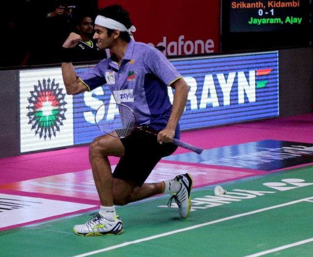 Jayaram fights back to beat Srikanth in PBL