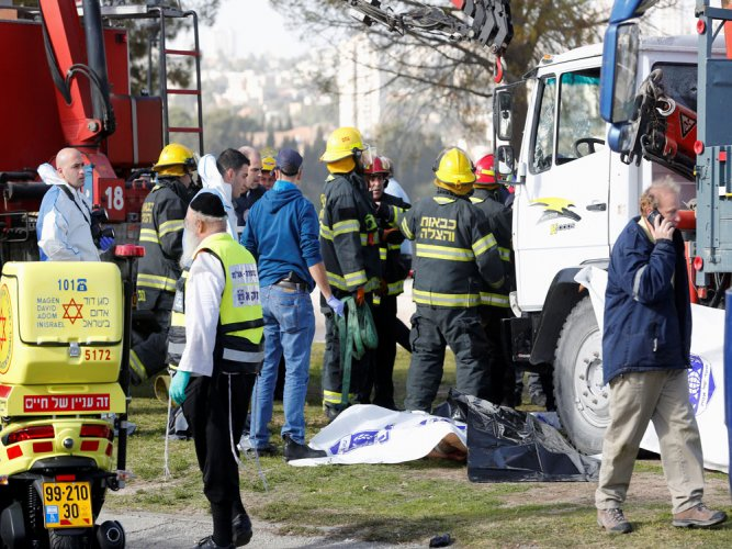 Four Israeli soldiers dead in Jerusalem truck 'attack': medic