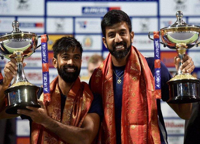 Bopanna-Jeevan win Chennai Open doubles trophy