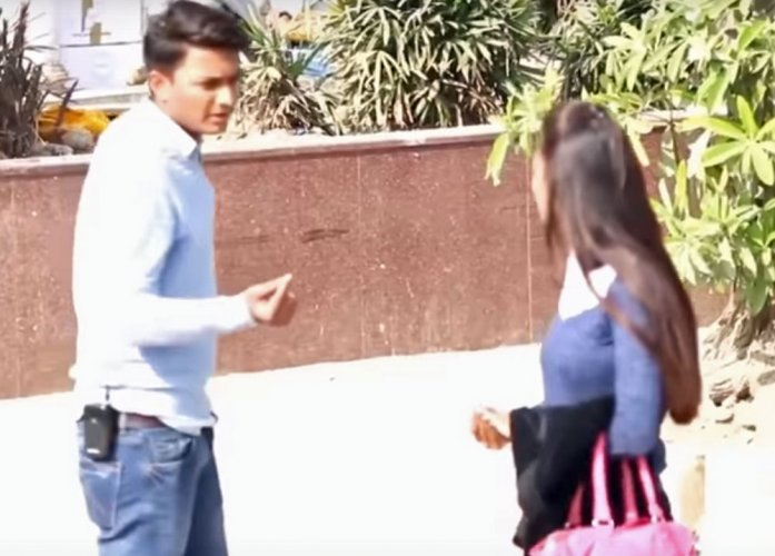 Case registered against youth behind 'kissing prank' video