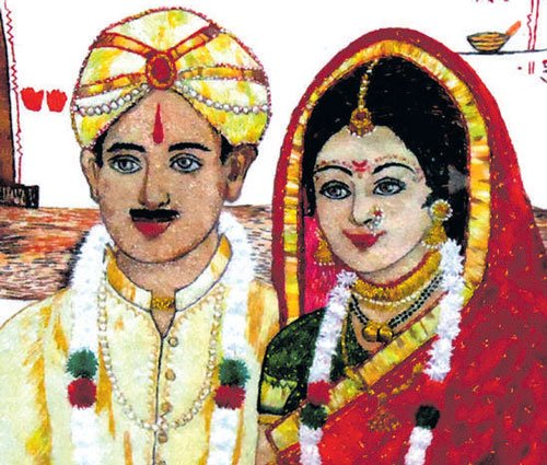 Cashless marriage after toilet is built at groom's home