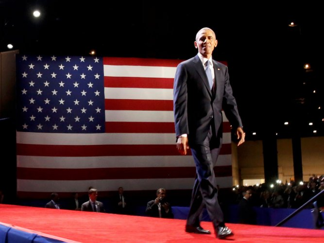 Obama asks Americans to protect democracy