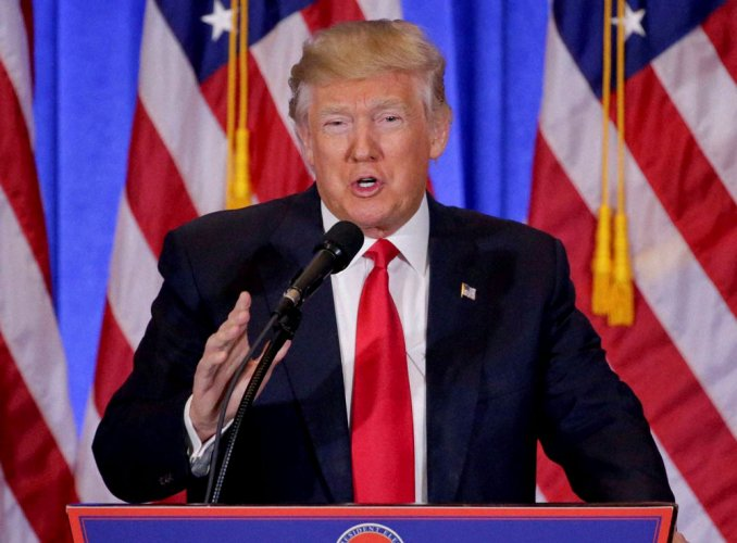 Russia dossier 'phony stuff' from opponents, says Trump