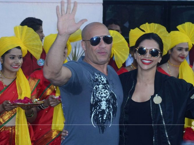 Vin Diesel arrives in Mumbai to a traditional welcome