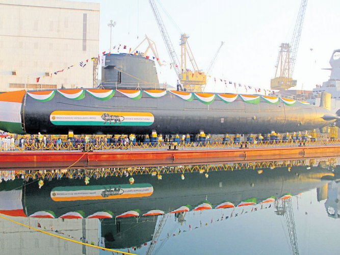 Second Scorpene submarine launched