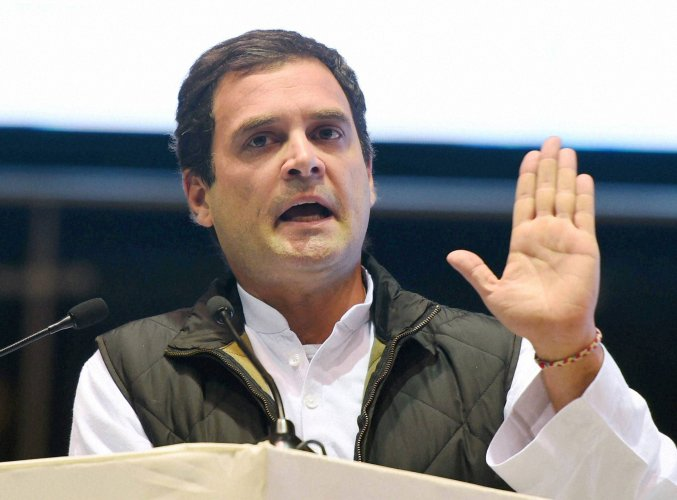 BJP wants Congress poll symbol cancelled over Rahul's remark