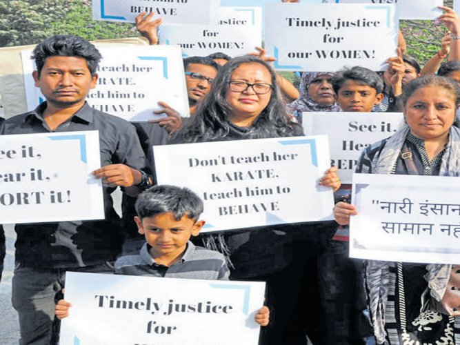 Protest held demanding  a safe city for women