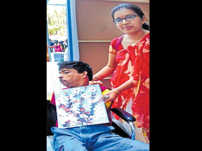 Talent the zest for life for this specially abled artist