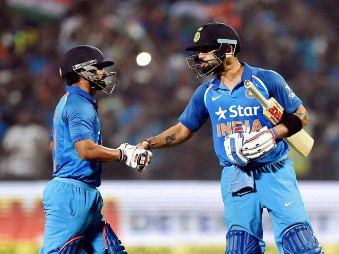 Kohli, Jadhav pull off a heist