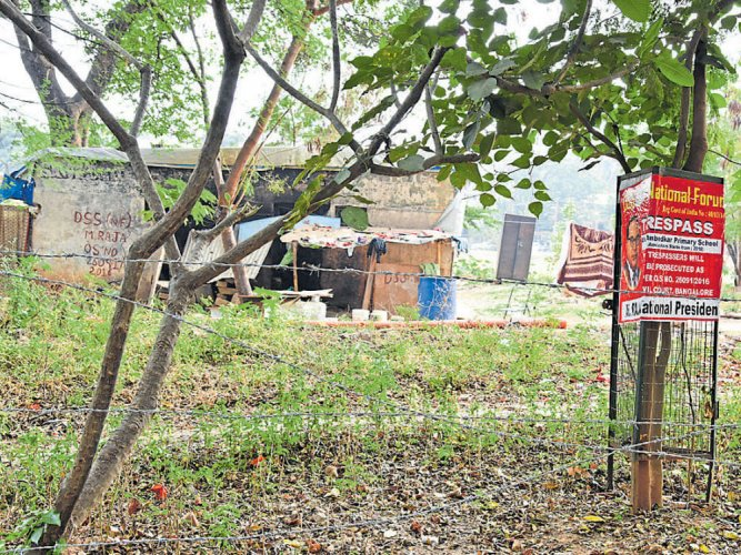 Playground encroached upon, say residents
