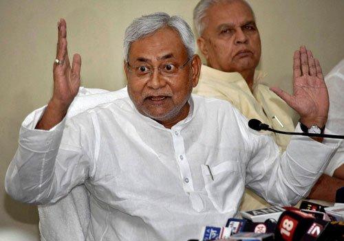 BJP slams Nitish for capsize