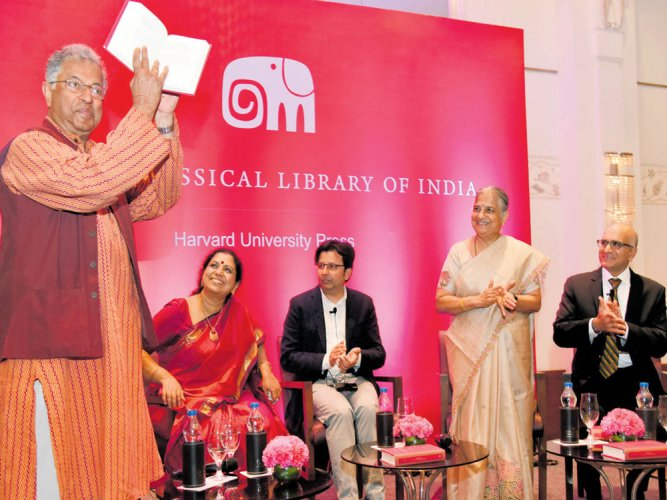 Lively debate marks launch of Kannada classic in Harvard series