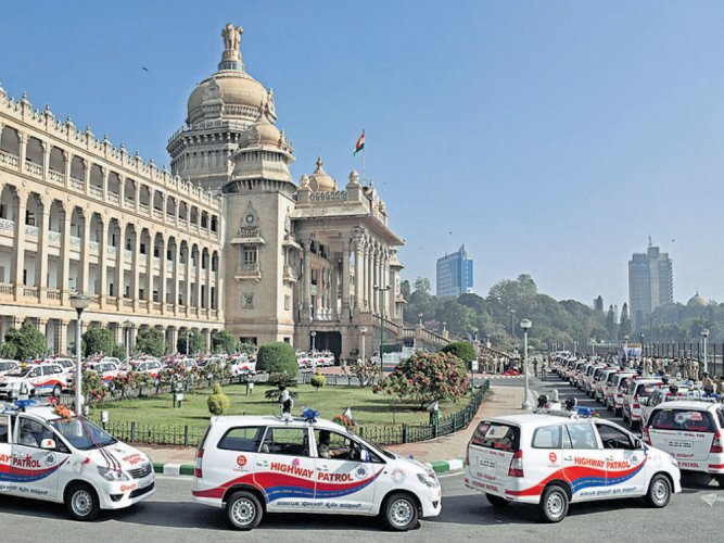 100 vehicles for highway patrol