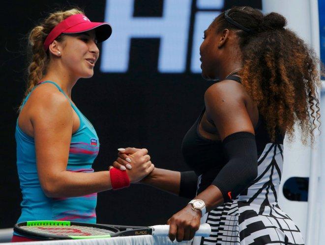 Serena blitzes Bencic to reach second round