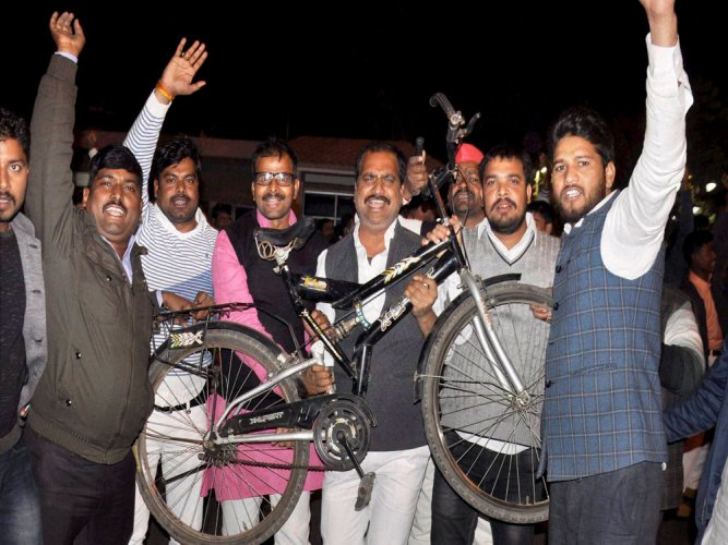 Akhilesh faction files caveat in SC after EC grants cycle symbol