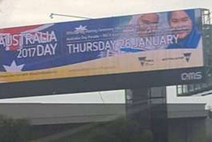 Aus Day billboard with hijab-clad girls removed after threats