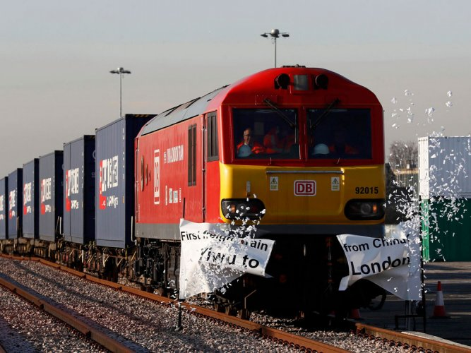 New Silk Road? 1st China-London freight train arrives