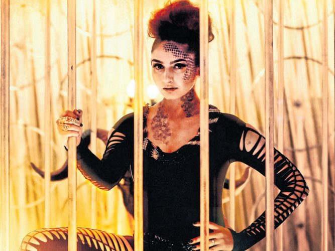 'It was challenging to dance inside a cage'