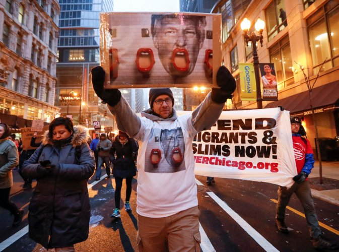 Violence, protests mar Trump's inauguration day; 217 arrested