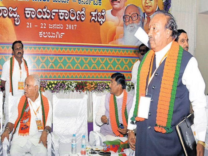 BJP meet resolves to act against its members backing Rayanna brigade