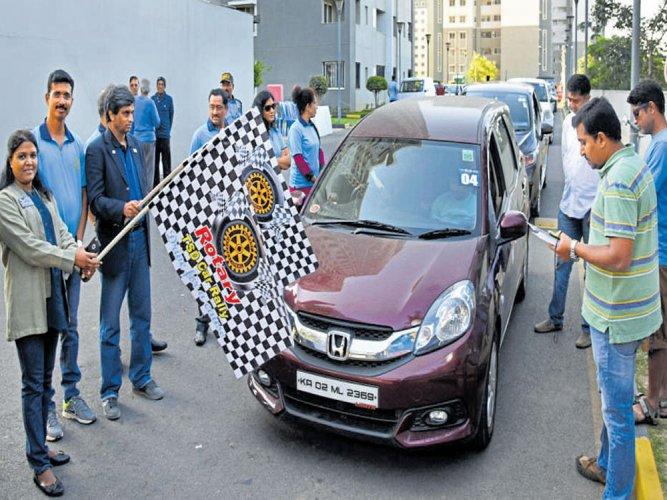 Car rally held to raise awareness on cleanliness