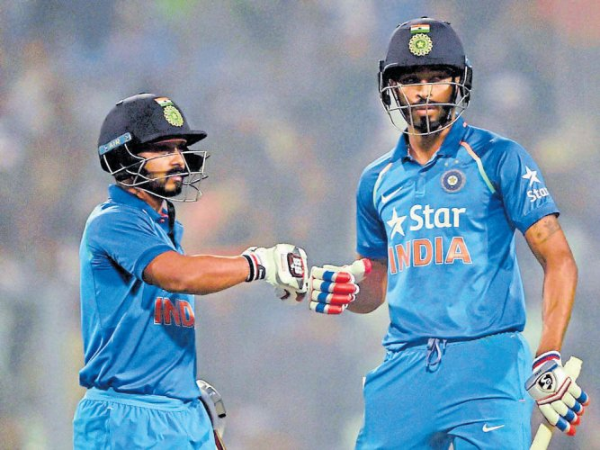 Jadhav, Pandya come to fore