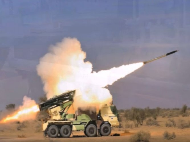 Guided Pinaka rocket successfully test fired