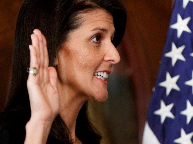Nikki Haley sworn-in as new US envoy to UN