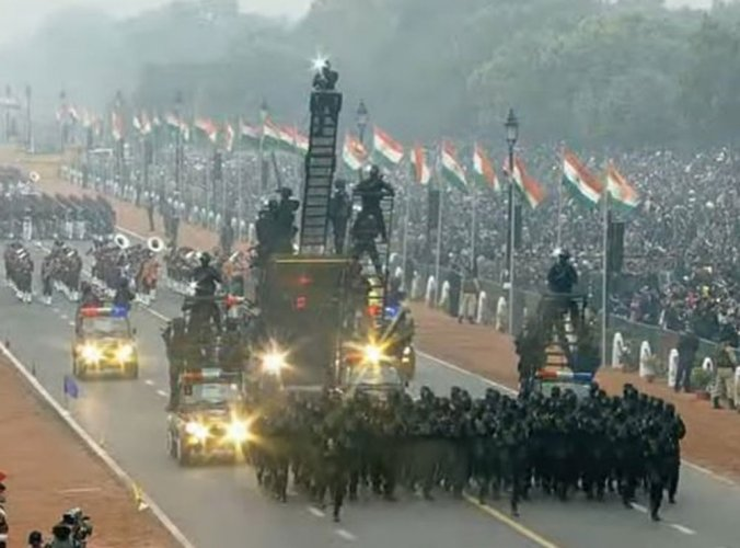 People witness R-Day celebrations amid drizzle