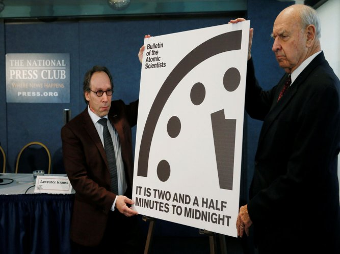 Symbolic 'Doomsday Clock' moves closer to midnight