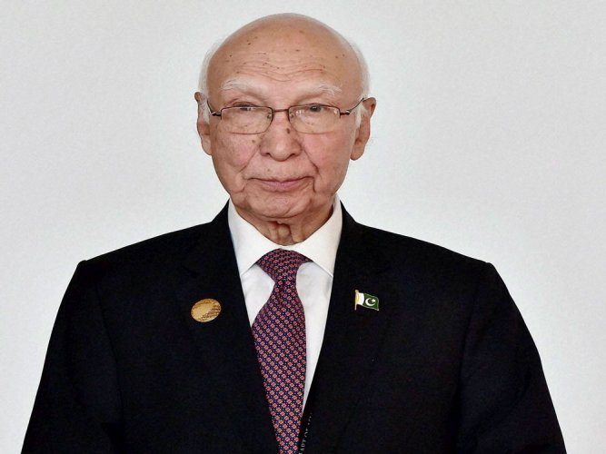 India 'impeded' SAARC process: Sartaj Aziz