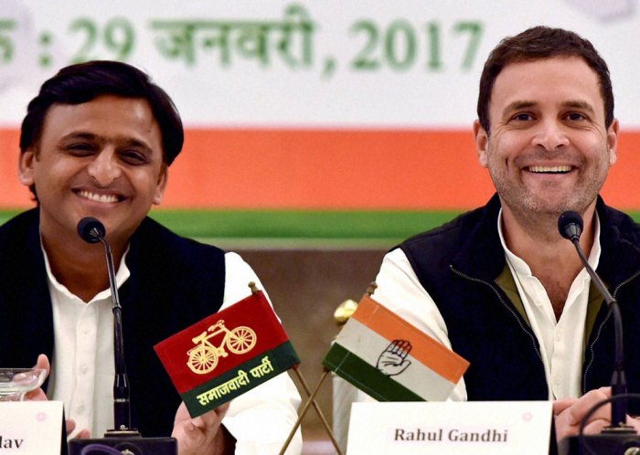'Hand' to steer 'Cycle' and defeat BJP in UP: Akhilesh, Rahul