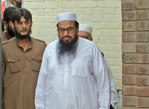 Hafiz Saeed, 4 others put under detention