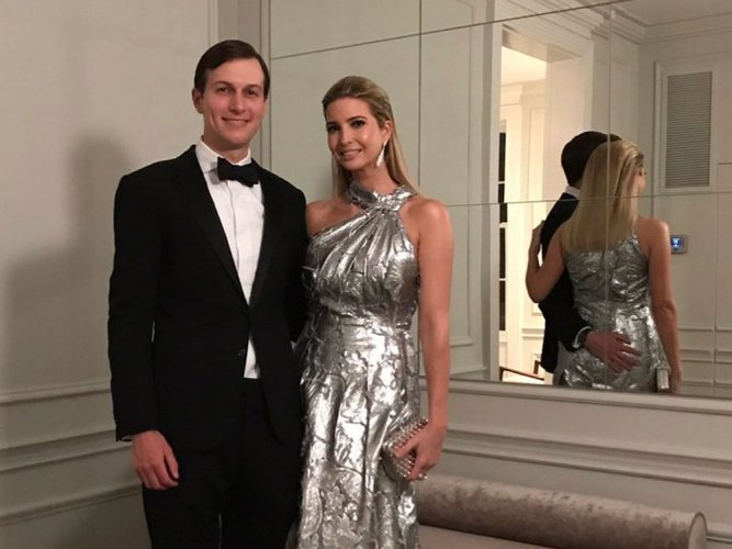 Ivanka slammed for wearing expensive gown on protests night