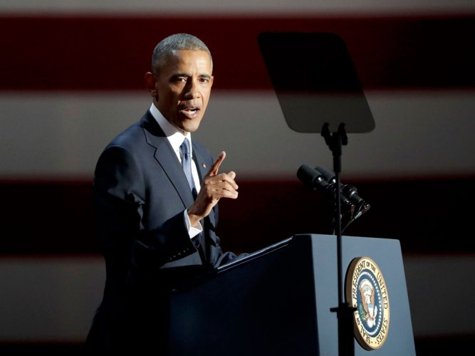 Obama criticises Trump, says 'American values' are at stake