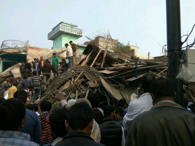 Kanpur building collapse: Man, daughter pulled out alive; 2 booked