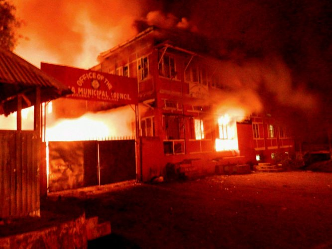 Kohima boils over ULB polls as mobs go on rampage