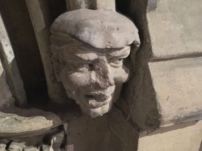 Ancient church stone carving in UK resembles Trump's face