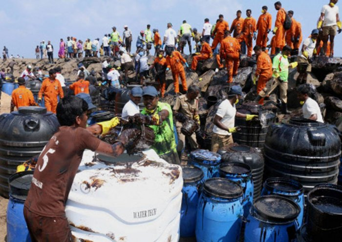 Chennai oil spill: Over 90% of clean-up work over, says Centre