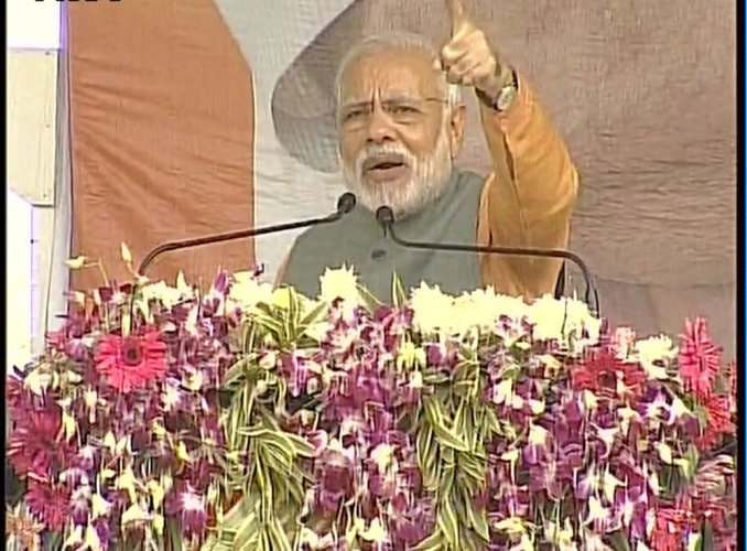 Get rid of SCAM, Modi tells UP voters; targets SP-Cong, Maya