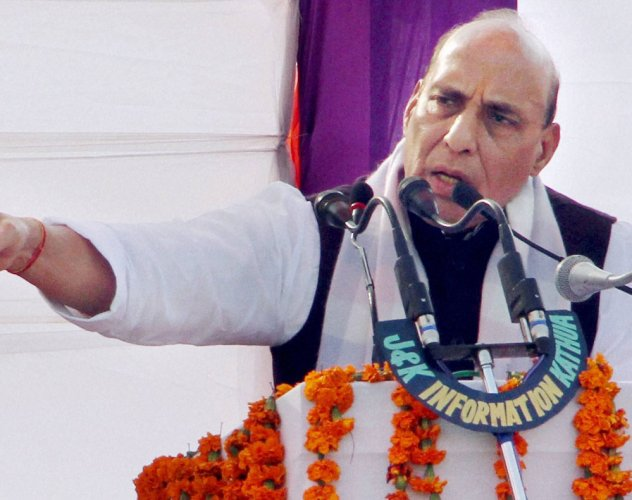 Acche din will come in UP after BSP, SP are wiped out: Rajnath Singh