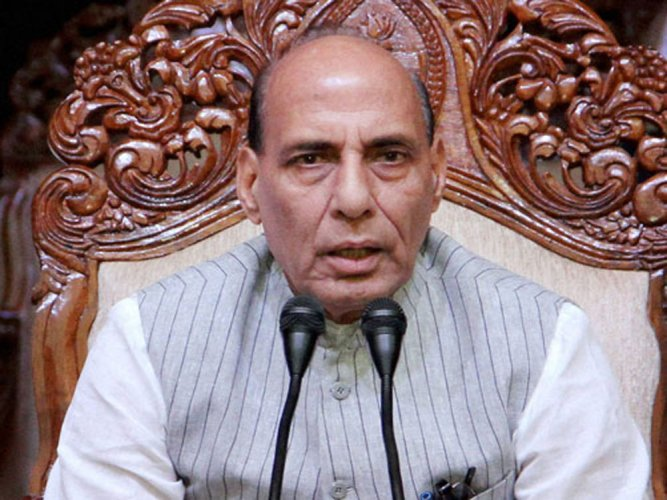Rajnath asks Pak to hold referendum on own soil