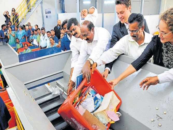Dry waste collection centre upgraded
