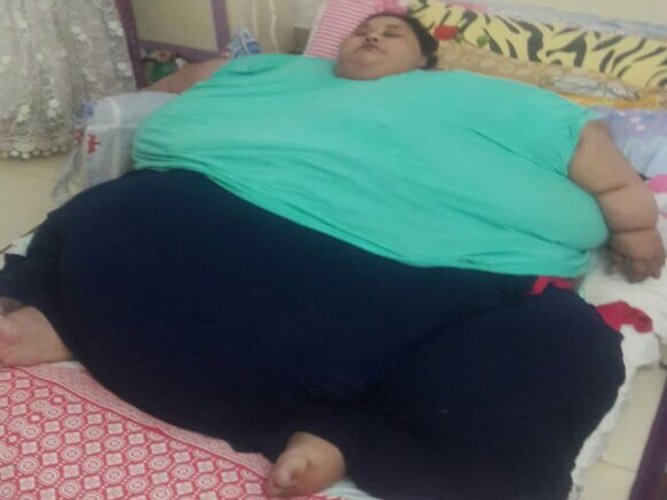 500-kg Egyptian Woman reaches Mumbai for weight loss treatment