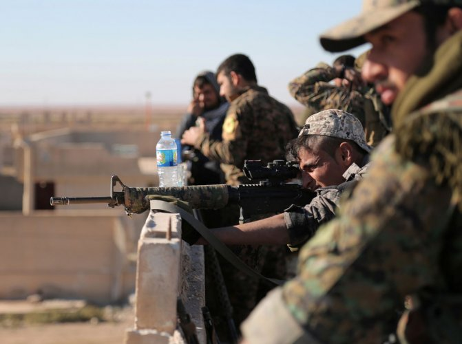 Turkish troops, Syria rebels enter IS-held town: monitor
