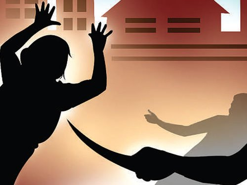 Man stabbed to death in front of wife, son