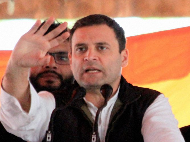 BJP scared  of Cong-SP alliance: Rahul